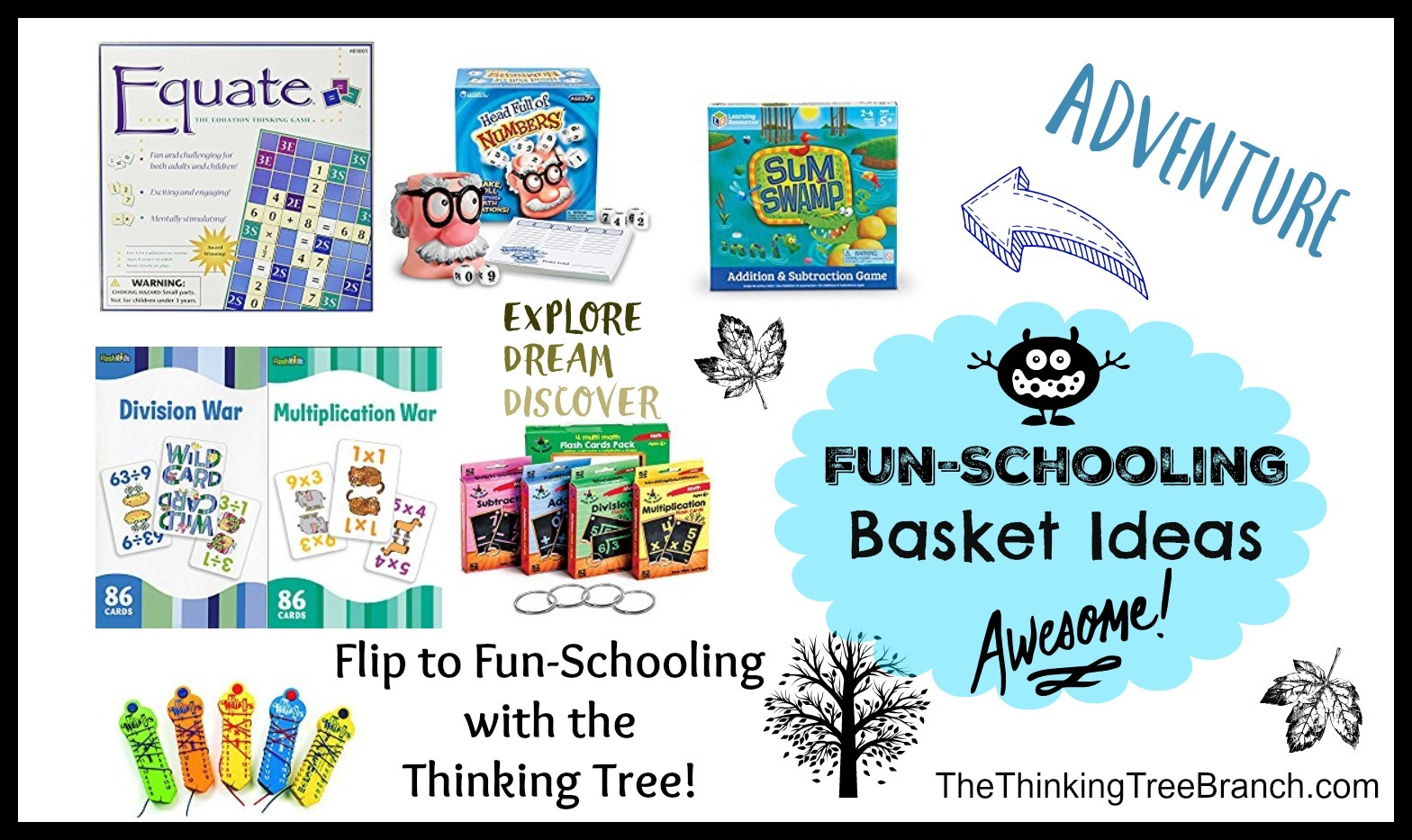 Fun Schooling Math Basket Ideas