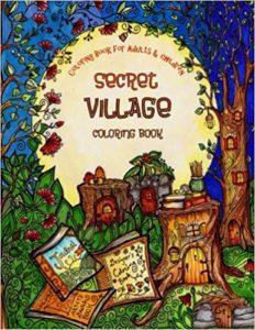 Secret Village Coloring Book